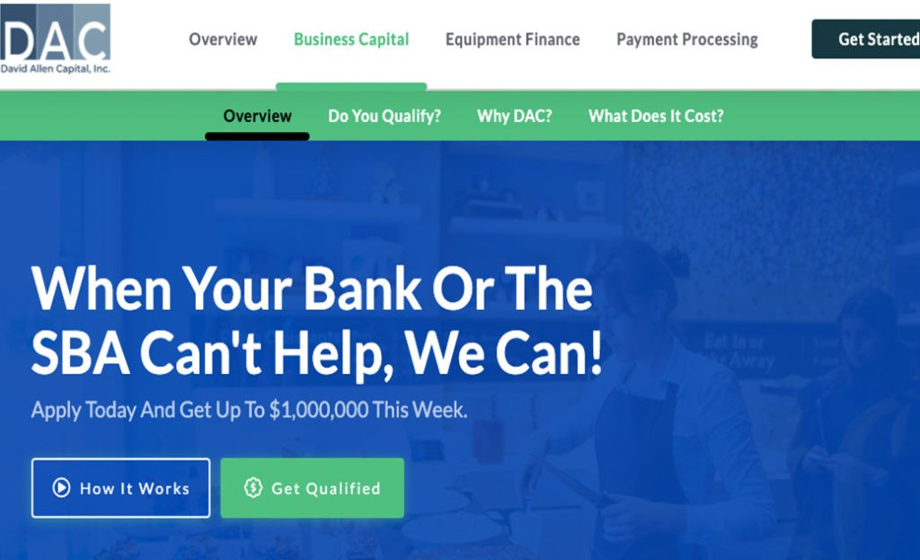 David Allen Capital-SoFlo Funding-Get the best business funding available for your business, start up or investment. 0% APR credit lines and credit line available. Unsecured lines of credit up to 200K. Quick approval and funding.